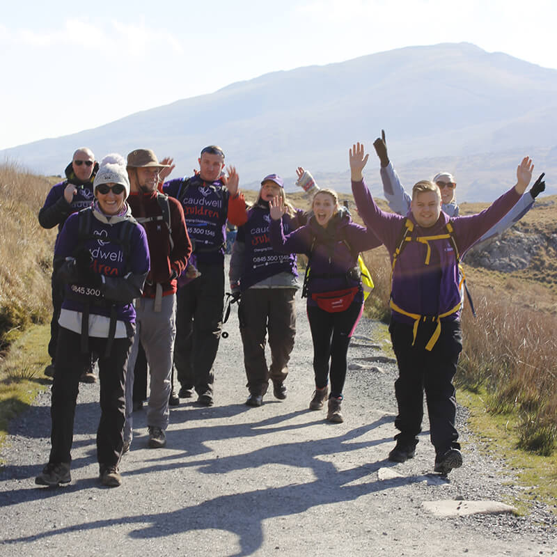 people walking the national 3 peaks challenge