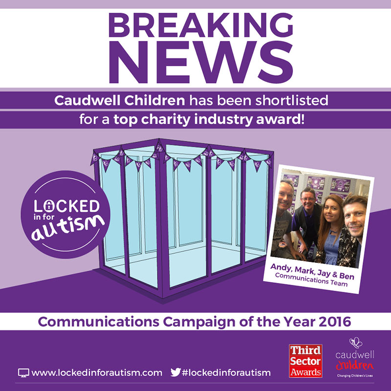 Caudwell Children shortlisted for prestigious Third Sector award