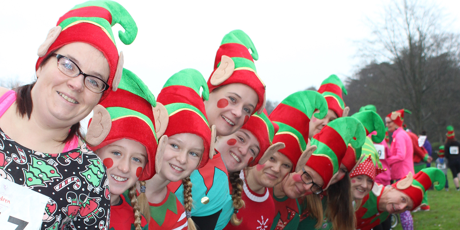 People dressed as elves