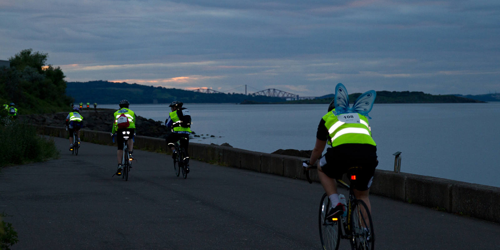 Edinburgh night ride participants