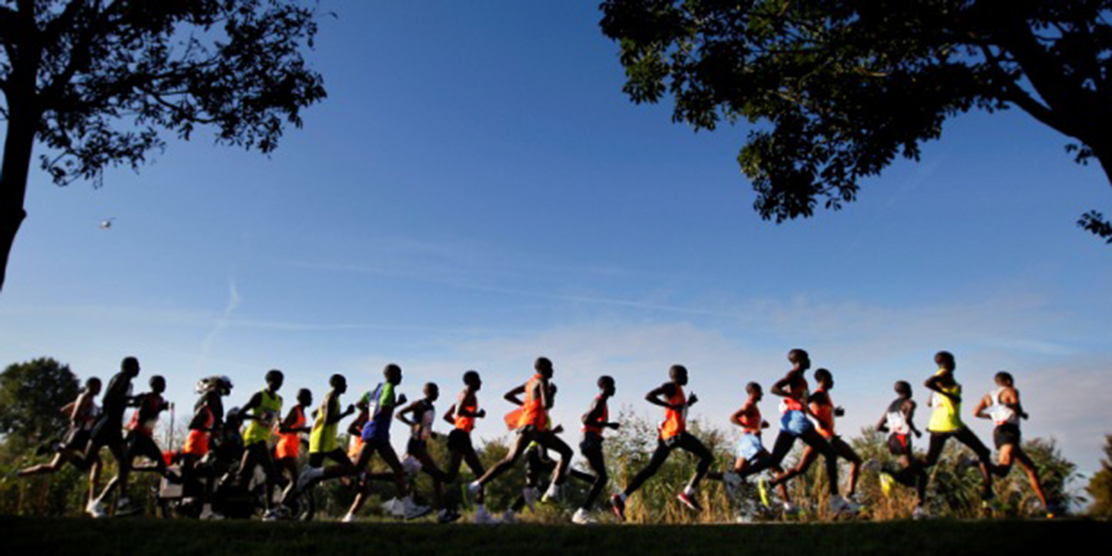 a group of runners taking part in the Amsterdam Marathon