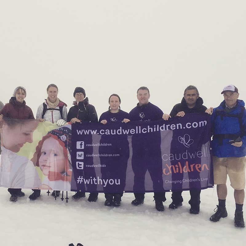 A group at the top of Ben Nevis