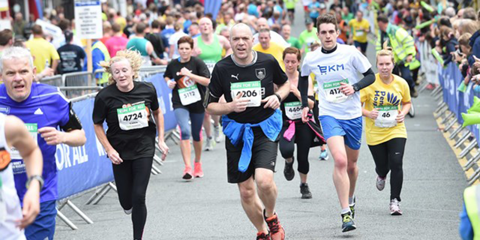 Runners at the Burnley 10k
