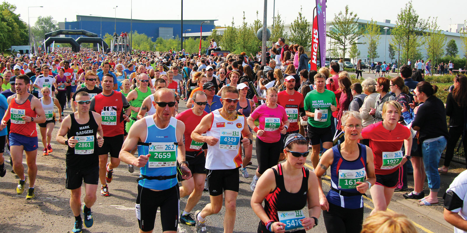 runners in the Milton Keynes marathon